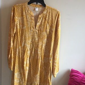 Old Navy Golden Yellow Peasant Dress Med.Tall EUC